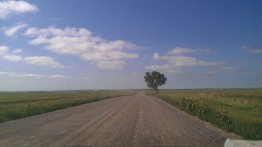 An open road in the Great Plains of North Dakota. (Susan Minichiello)