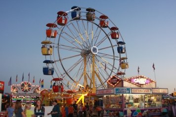 The ferris wheel at the Richland County Fair and Rodeo.