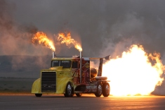 The Shockwave Jet Truck is one of a kind, making its way to about 30 shows a year with crowds of up to 500,000 at other venues. It came to Sidney in Sept. 2013 to kick off the Wings of Freedom III air show.